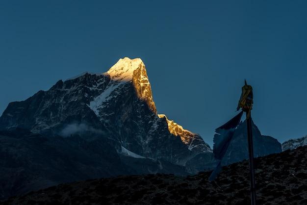 Dingboche village, campo base dell'everest trek da tengboche a dingboche, in nepal