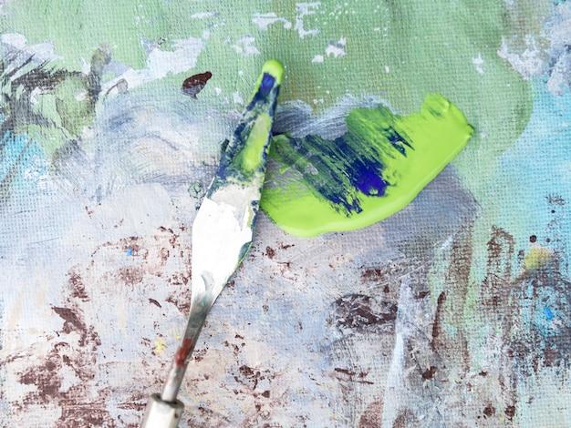 Dipinto ad olio realizzato con spatola