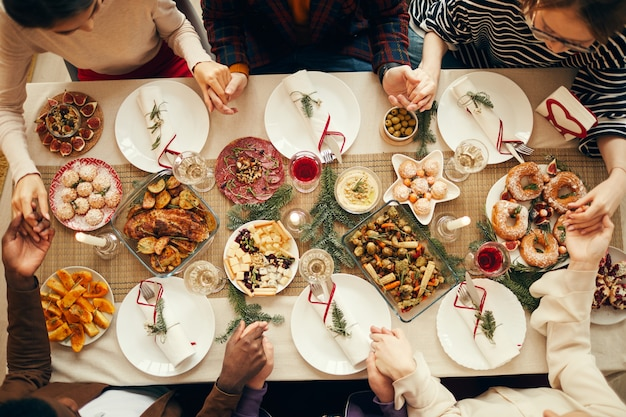 Dire grazia a cena sopra vista