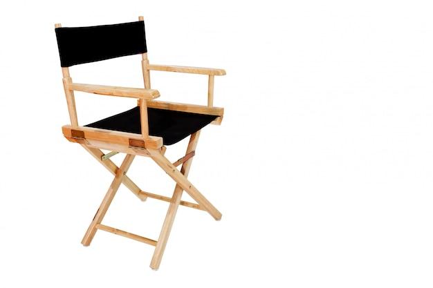 Direttore sedia isolato su sfondo bianco