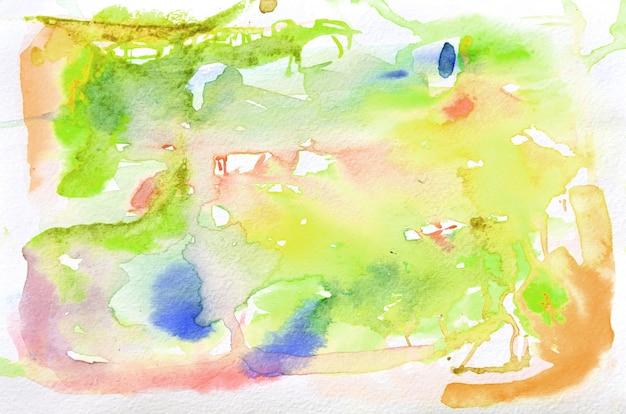 Disegnata a mano a forma di acquerello in toni caldi. sfondo dipinto creativo, decorazione fatta a mano