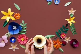 Disegni floreali della pianta della pianta del fiore