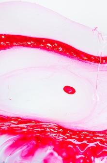 Disegno astratto uovo rosso e rosa