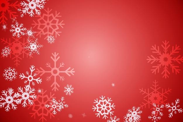 Disegno del modello fiocco di neve rossa