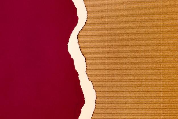 Disegno di sfondo di forma di carta rossa
