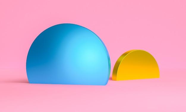 Disign astratto geometrico per sfondo, rendering 3d, poster di tendenza.