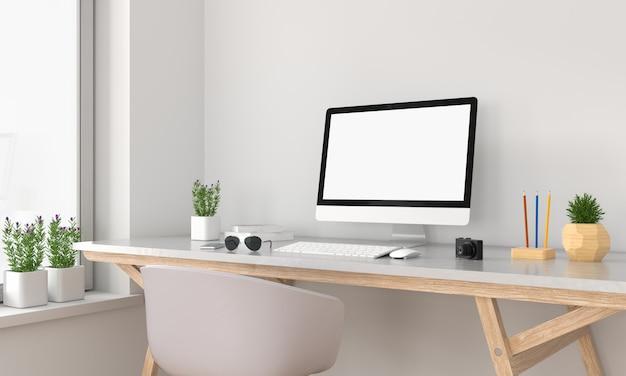 Display del computer per il mockup