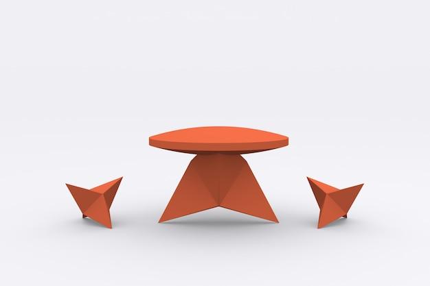 Display del prodotto di forma moderna podio piedistallo di visualizzazione della piattaforma 3d rendering
