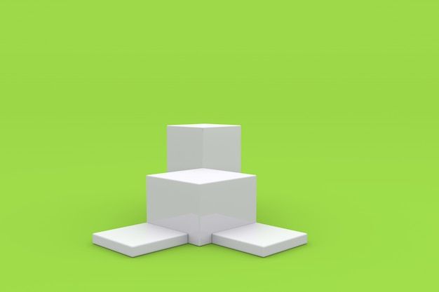 Display del prodotto podio bianco piedistallo di visualizzazione della piattaforma 3d rendering