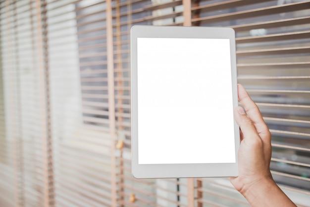 Display vuoto di mockup tablet.