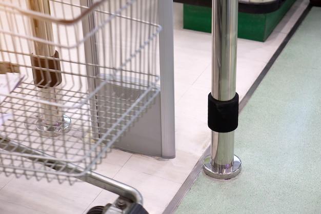 Dispositivo antifurto porta d'ingresso dello scanner per prevenire i furti nel supermercato