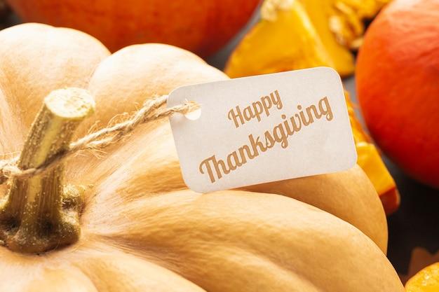 Disposizione con zucche del ringraziamento