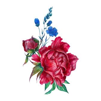 Disposizione dei fiori ad acquerelli 2