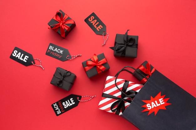 Disposizione delle vendite del black friday