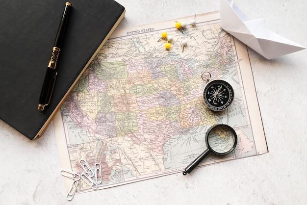 Disposizione di una vacanza di viaggio