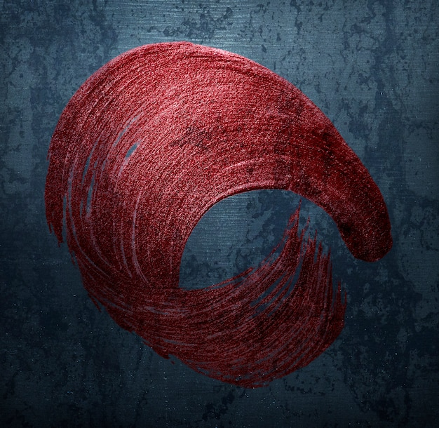 Distintivo di pennellata rossa
