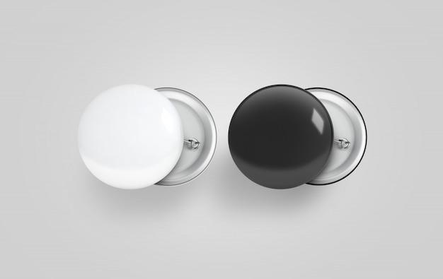 Distintivo di pulsante bianco e nero vuoto