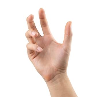 Distorsione della mano dell'uomo, isolata