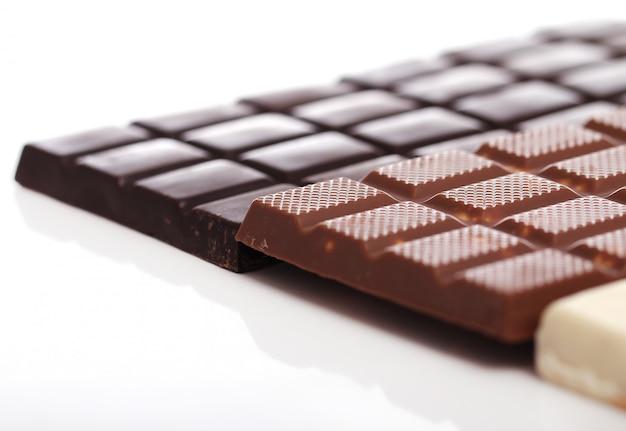 Diverse barrette di cioccolato