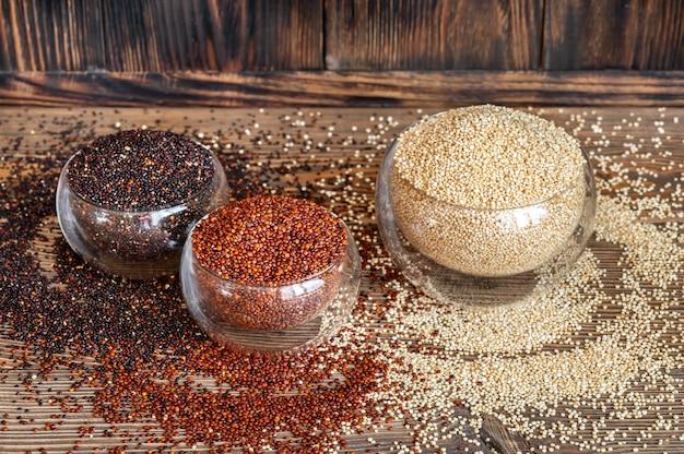 Diversi tipi di quinoa