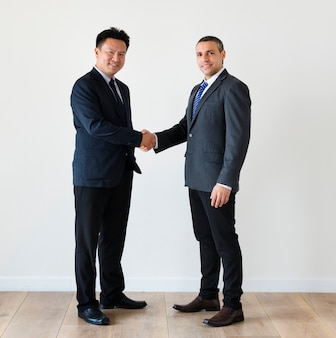 Diversi uomini d'affari si stringono la mano