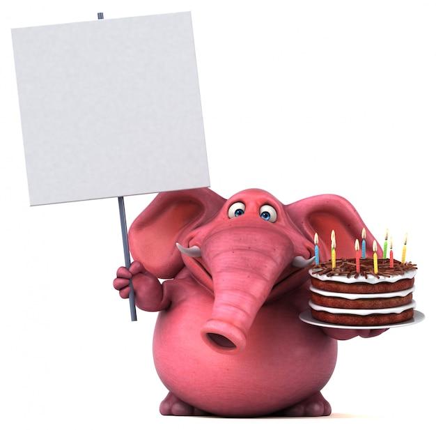 Divertente animazione con elefanti