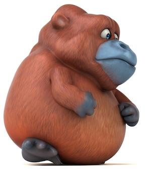 Divertente animazione dell'orangutan