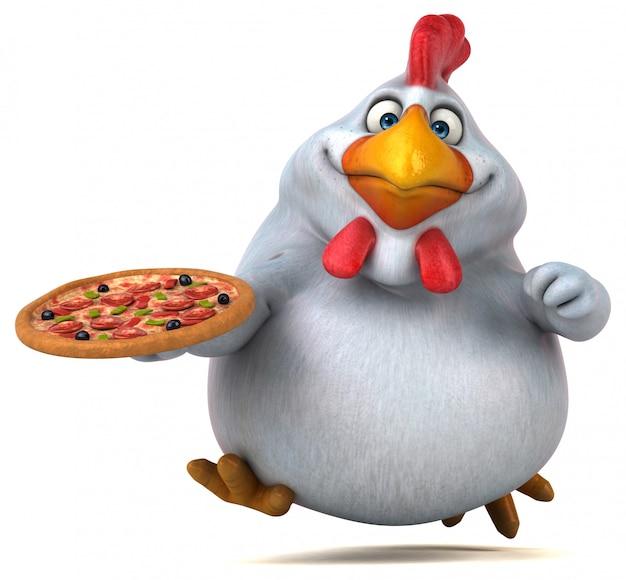 Divertente animazione di pollo