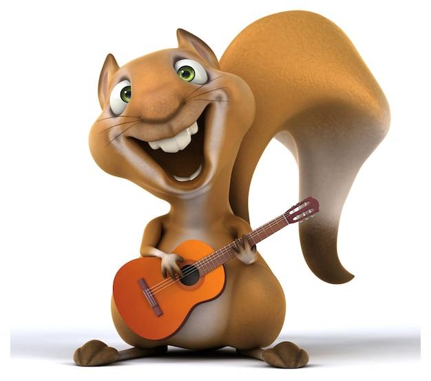 Divertente animazione scoiattolo