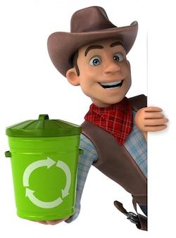 Divertente cowboy - illustrazione 3d
