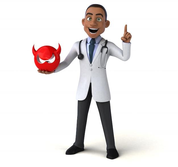 Divertente personaggio medico