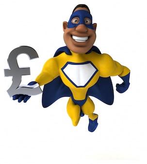 Divertente supereroe - illustrazione 3d