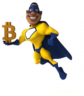 Divertente supereroe - personaggio 3d
