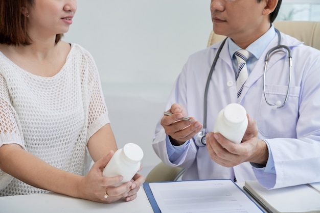 Doctor prescribing pills