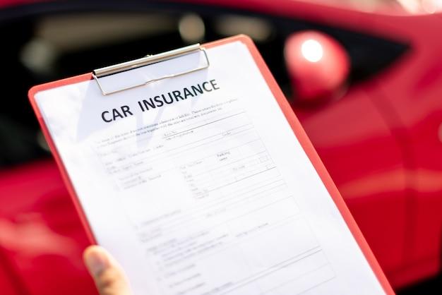 Documento di assicurazione auto