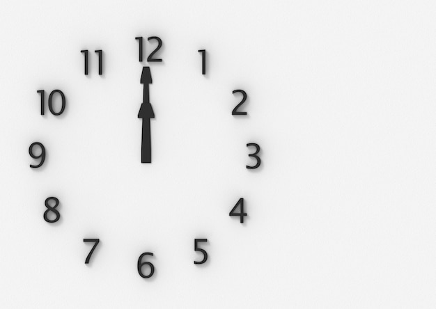 Dodici o orologio sul muro