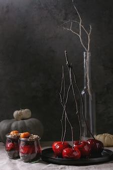 Dolce al cioccolato di halloween