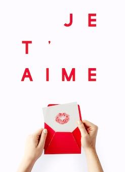 Dolce celebrazione innamorato bacio giorno di san valentino innamorato