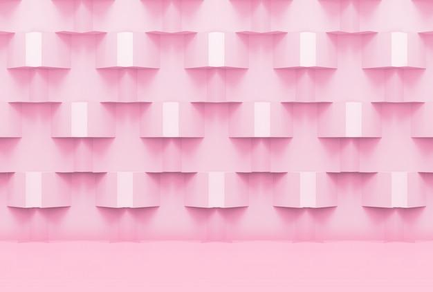 Dolce rosa tenue colore griglia griglia scatola quadrata design sfondo della parete.