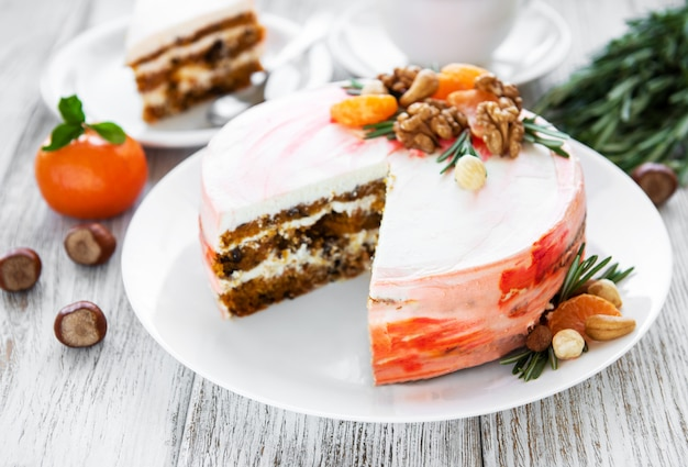 Dolce torta di carote