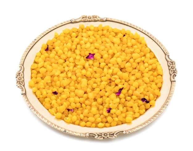 Dolce tradizionale indiano boondi