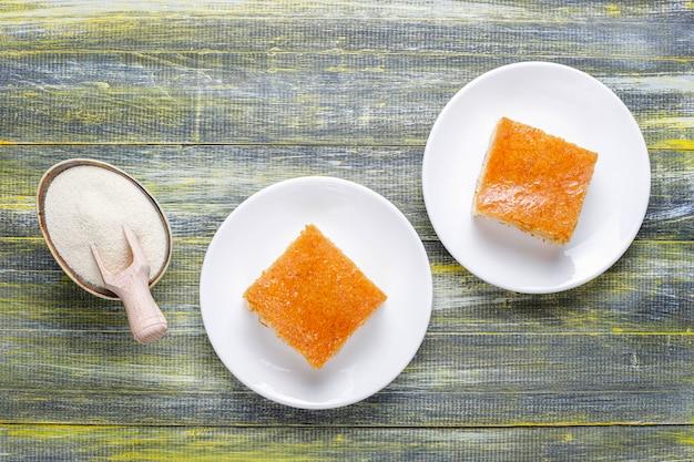 Dolce turco fatto in casa torta di semolino