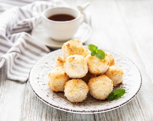 Dolci biscotti al cocco