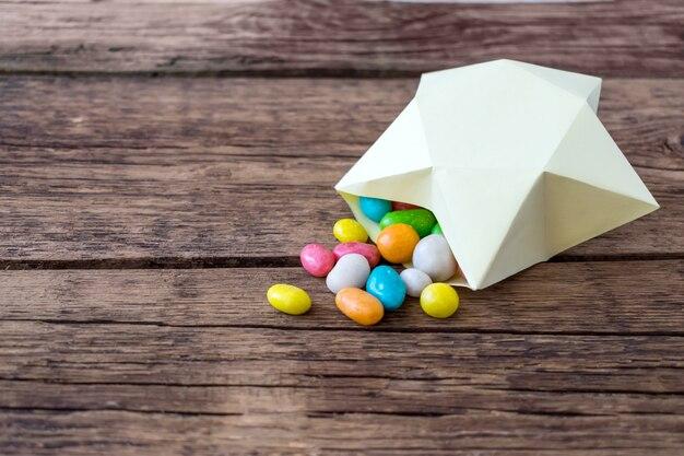 Dolci caramelle multicolore