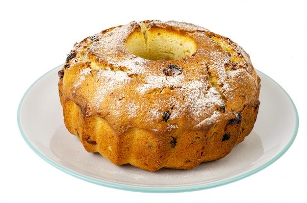 Dolci fatti in casa. delizioso cupcake alla vaniglia con uvetta.