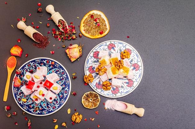 Dolci orientali. delizia turca tradizionale