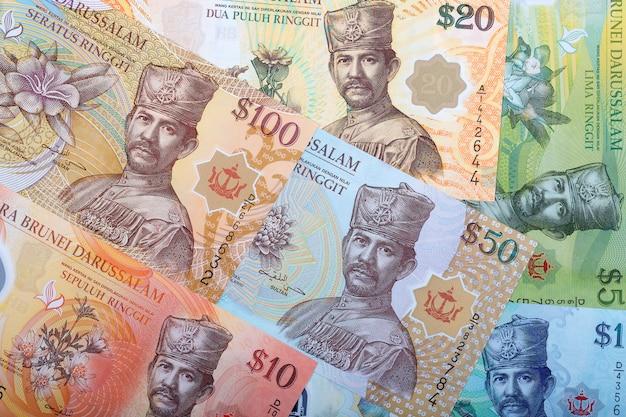 Dollaro del brunei uno sfondo di affari