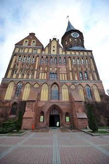 Dom cathedral di konigsberg a kaliningrad, russia