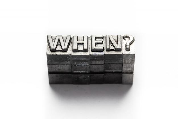 Domanda parola, chi, cosa, quando, dove, perché, stampa tipografica
