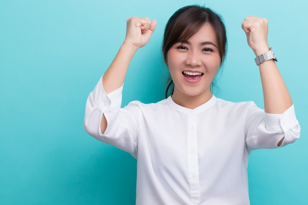Donna asiatica di successo